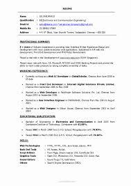 Ui Developer Resume Resume Format For PHP Developer Fresher Luxury Ui Developer Resume 5