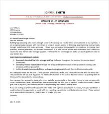 Marketing And Sales Cover Letter Sales Cover Letter Template 8 Free