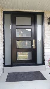 modern front doors. Contemporary Doors Modern Exterior Door With Multi Point Locks4 Lites And 2 Side Lites  Installed In Toronto By Doors Intended Front E