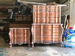 painted furniture makeover gold metallic. How To Paint Rose Gold Metallic Furniture Painted Makeover R