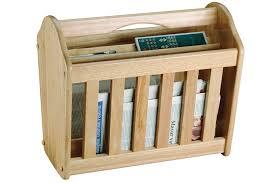 Apollo Rubber Wood Magazine Rack