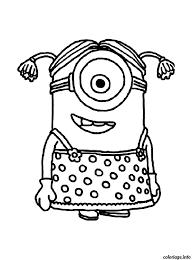 Coloriage Dessin Petite Fille Minion Dessin
