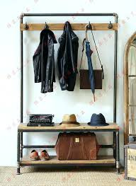 Coat Rack Shoe Storage Stunning Coat Tree With Shoe Storage Domk