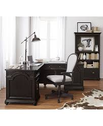 home office l shaped desks. Image 2 Of Clinton Hill Ebony Home Office L-Shaped Desk, Created For Macy\u0027s L Shaped Desks