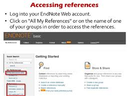 Endnotes References Adding Research Notes To A Reference In Endnote Web