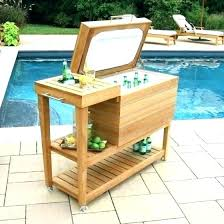 wooden outdoor cooler cedar stand beverage plans deck cart wooden outdoor cooler patio reclaimed wood beverage costco