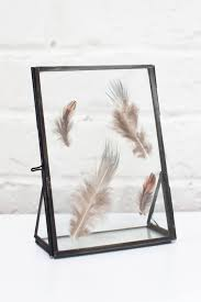 standing metal double glass frame 5 inch x 2 25 inch x 6 75 inch com