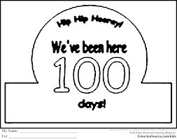 100 Day Coloring Page
