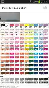 Promarker Blending Chart Promarker Colour Chart Wish List Prismacolor Color