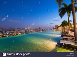 Infinity pool of the Marina Bay Sands Singapore Southeast Asia