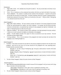 essay outline template sample example format   expository essay outline template word doc