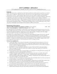 Special Agent Sample Resume Fbi Special Agent Resume Template Krida 3