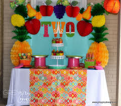 2 Year Birthday Ideas 2 Year Old Party Idea Fruit Theme Party