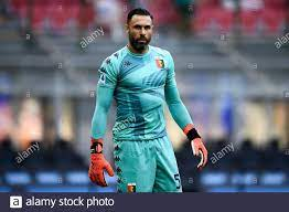 Milan, Italy. 21 August 2021. Salvatore Sirigu of Genoa CFC looks on during  the Serie A football match between FC Internazionale and Genoa CFC. Credit:  Nicolò Campo/Alamy Live News Stock Photo - Alamy