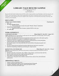 library page resume sample librarian resume examples