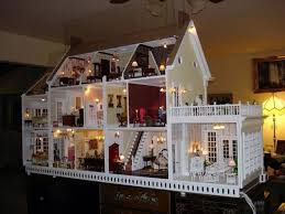 dollhouse with lights