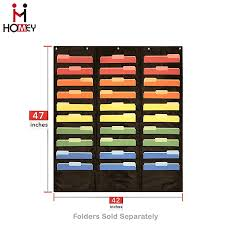 Hanging Wall File Organizer Fabric Pocket Charts For
