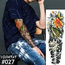 Nuovo 1 Pezzo Temporanea Autoadesivo Del Tatuaggio Di Colore