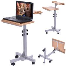 office tables on wheels. Amazon.com : Tangkula Adjustable Wooden Laptop Table Holder Top Work Study Rolling Computer Desk Home Office Products Tables On Wheels .
