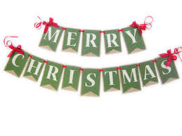 Merry Christmas Burlap Banner Merry Christmas from JacqsCraftyCorner! Our  handmade Holiday Banners are layered with