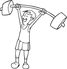Small Picture Coloring Pages About Exercise Coloring Pages