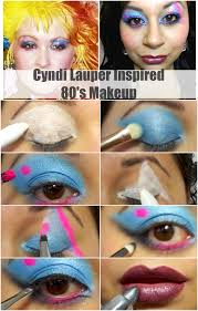 makeup tutorial cyndi lauper inspired 80 s collab collage wth name chocolate lipstick