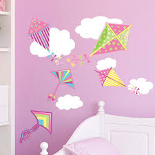 Small Picture Girls Kites Clouds Wall Stickers Contemporary Wall Decals