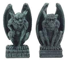 ebros notre dame guardian mini gargoyle statue set of 2 miniature fairy garden gargoyle figurine pair