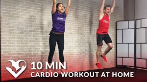 10 minute cardio workout at home video