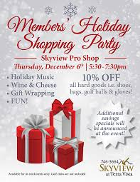 Skyview Members Holiday Shopping Party Event Details Citrus