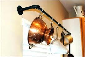 ceiling pan holder wall hanging pot holder wooden hanging pot rack kitchen pot rack over island