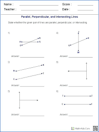 parallel and perpendicular worksheet writing equations