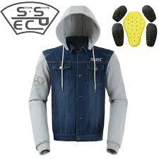 Us 58 99 47 Off Sspec Motorcycle Jacket Men Denim Motorbike Motocross Protective Gear Jacket Spring Summer Jacket Chaqueta De Motocicletas S Xxl In