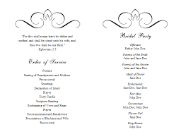 Free Wedding Program Templates For Microsoft Word Free Wedding