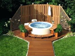 Hot Tub Backyard Ideas Plans Best Inspiration Design