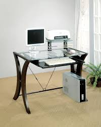 glass top home office desk. GLASS TOP COMPUTER DESK Glass Top Home Office Desk P