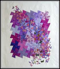 Mary Manson Quilts: Grand Prize Winner of the 2013 Q Paint Chip Challenge  -- Purple Butterflies. Her paint chip color was red-violet.