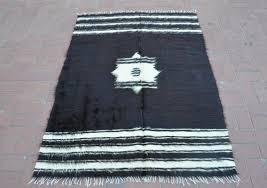 boho turkish rug black and white rug wool rug woven rug image 0