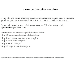 Pacu Rn Resume Objective Professional Resume Templates