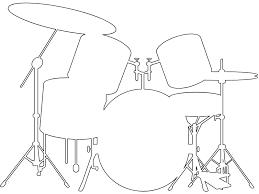 Silhouet Drumstel Silhouetten En Contour