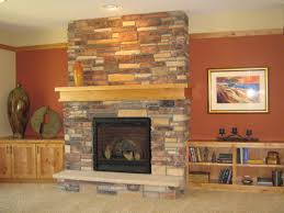 exciting corner stone gas fireplace images design ideas