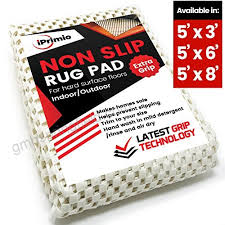 iprimio non slip rug pad 5 x 8 for bathroom kitchen and outdoor area extra grip
