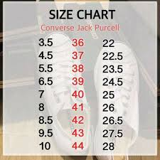 Inexpensive Size Chart Converse Jack Purcell 2a47f C7bb9