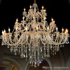 largest crystal chandelier multi lights chandelier 110 240v hotel conference lobby crystal chandeliers modern s lobby stairpendant lamp wooden