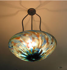 picture of tripod blown glass chandelier