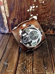 17 best ideas about cuff watches steampunk watch men s leather cuff watch diesel watch face distressed oversized watch for men buckle watch