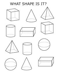 d shapes printable pages printable 3d shapes printable pages