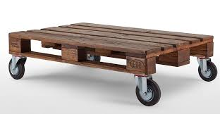 Pallet Coffee Table With Lifting Top And Landing Gear 9 Steps Pallet Coffee Table
