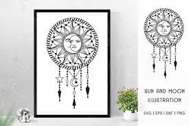 A festive design that is filled with christmas spirit! Sun And Moon Svg Sun Moon Frame Illustration Svg 906159 Cut Files Design Bundles