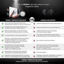 Prisma Premium Duschkopf Handbrause Wassersparend Mit Druckerhöhung Für Mehr Wasserdruck Brausekopf Regendusche Und Massage